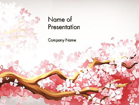 Cherry Blossom Presentation Template, Master Slide