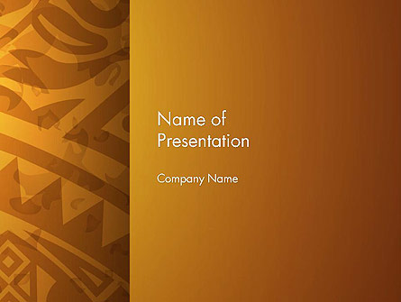 Brown Ethnic Ornament Presentation Template, Master Slide