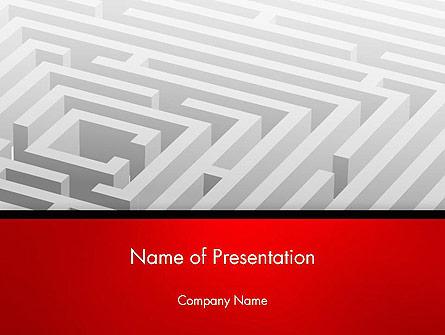 White Square Maze Presentation Template, Master Slide