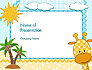 Children`s Photo Framework with Giraffe slide 1