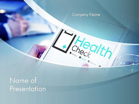 Health Check Diagnosis Concept Presentation Template, Master Slide
