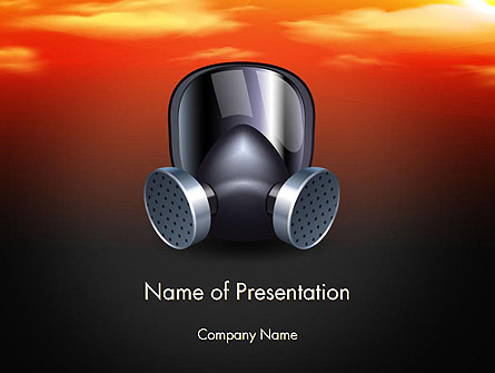 Pollution Mask Presentation Template, Master Slide