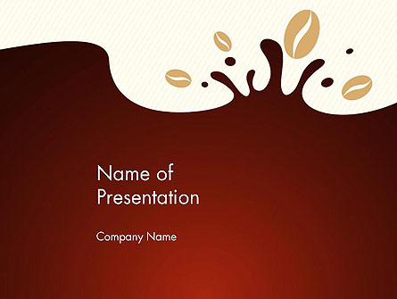 Espresso Flavored Abstract Background Presentation Template, Master Slide