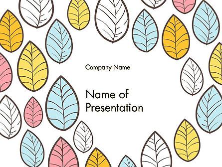 Leaf Background Presentation Template, Master Slide