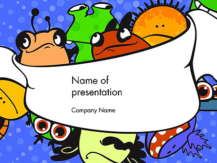 Cute Monsters Presentation Template, Master Slide
