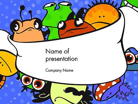 Cute Monsters Presentation Template, Master Slide