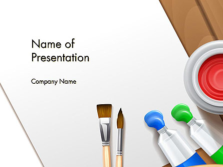 Artist's Accessories Presentation Template, Master Slide