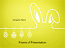 Happy Easter Background with Ears Rabbit and Eggs slide 1