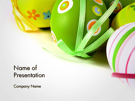 Painted Easter Eggs Presentation Template, Master Slide