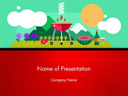 BBQ Picnic Presentation Template, Master Slide