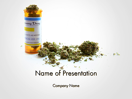 Medical Cannabis Presentation Template, Master Slide
