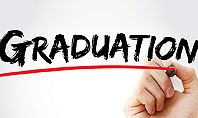 A Hand Writing 'Graduation' with Marker Presentation Template