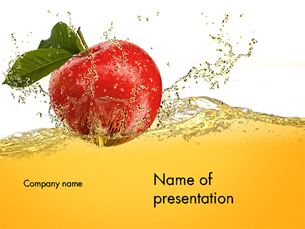 Apple With Juice Splash Presentation Template, Master Slide