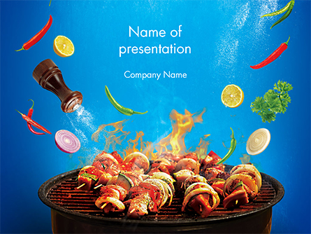 Grilling and Roasting Presentation Template, Master Slide