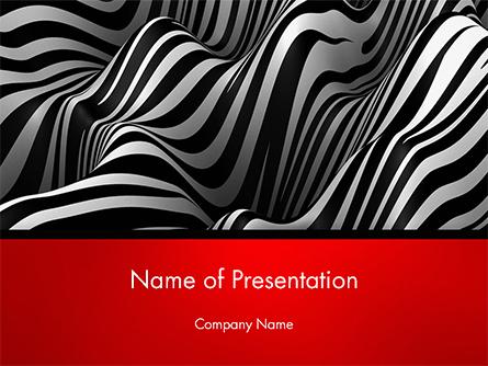 Zebra Abstract Surface Presentation Template, Master Slide