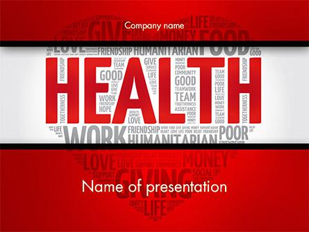 Health Word Cloud Presentation Template, Master Slide