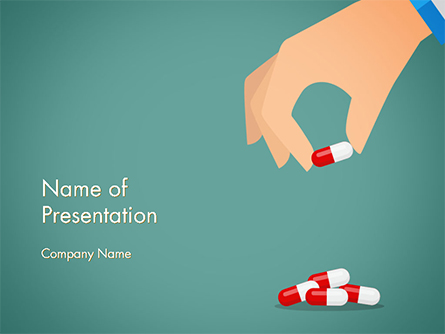 Doctor's Hand and Pills Presentation Template, Master Slide