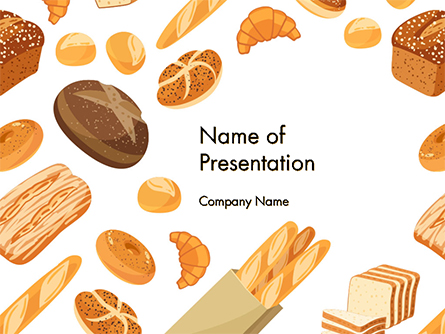 Bread Background Presentation Template, Master Slide
