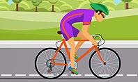 Bicycle Race Illustration Presentation Template