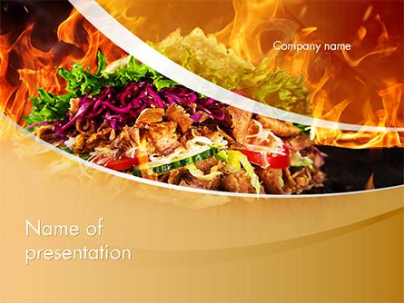Testy Kebab Presentation Template, Master Slide