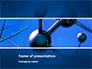 Molecular Lattice In Dark Blue Colors slide 1