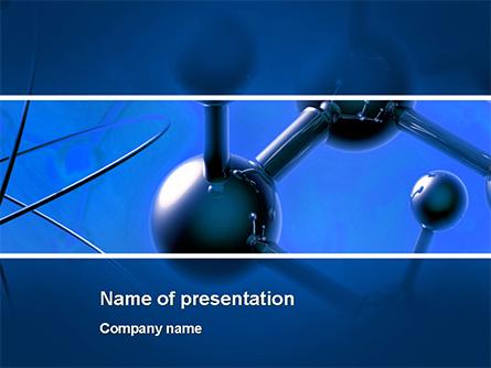 Molecular Lattice In Dark Blue Colors Presentation Template, Master Slide