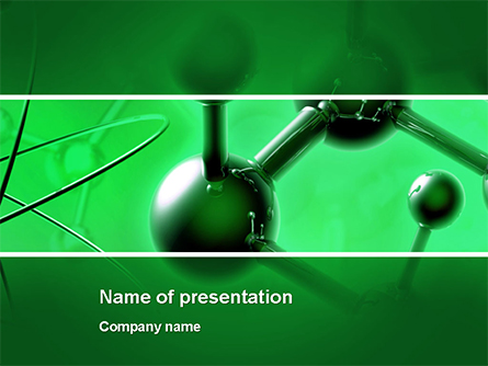 Molecular Lattice In Dark Green Colors Presentation Template, Master Slide