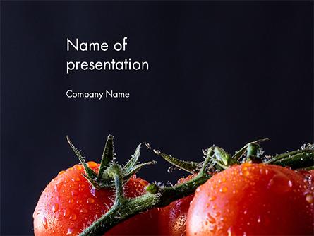 Wet Tomatoes Presentation Template, Master Slide