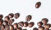 Scattered Coffee Beans Background Presentation Template