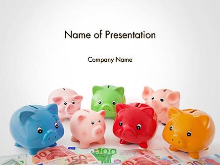 Colorful Piggy Banks Presentation Template, Master Slide