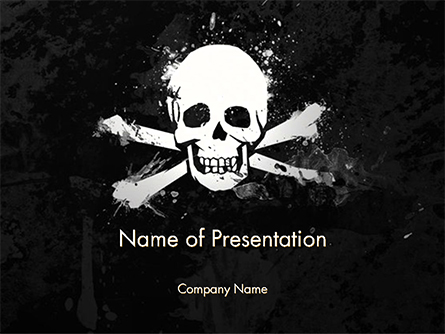 Pirate Flag Black Sails Presentation Template, Master Slide