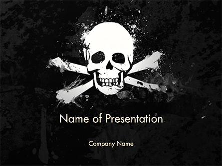Pirate Flag Black Sails Presentation Template, Master Slide