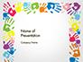 Frame Made of Colorful Handprints slide 1