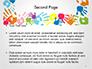 Frame Made of Colorful Handprints slide 2