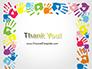 Frame Made of Colorful Handprints slide 20