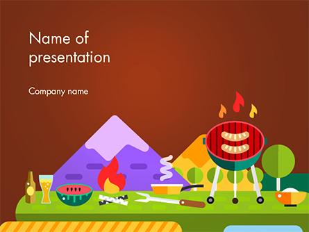 BBQ Picnic Illustration Presentation Template, Master Slide