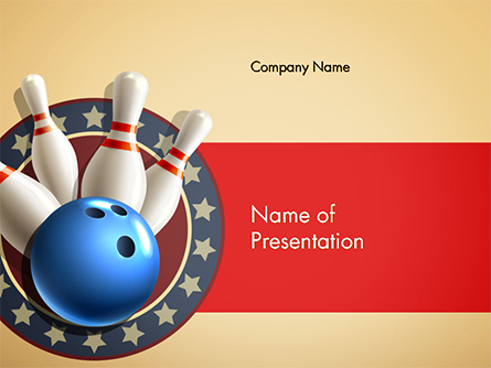 Bowling Illustration Presentation Template, Master Slide