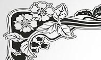 Floral Black and White Border Presentation Template