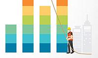 Building Business Graph Presentation Template