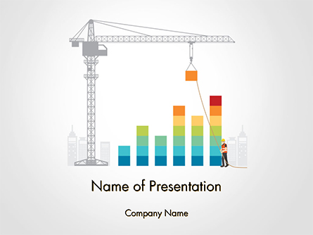 Building Business Graph Presentation Template, Master Slide