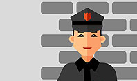 Security Guard Illustration Presentation Template