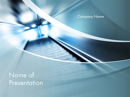 Empty Escalator Presentation Template, Master Slide