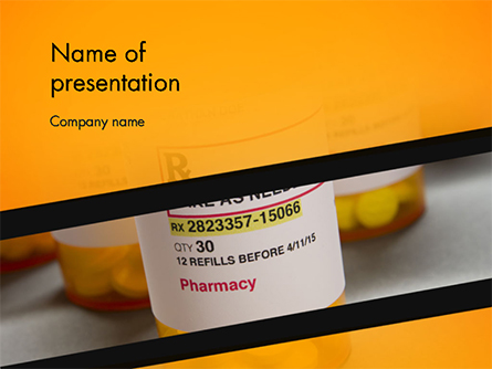 Bottles with Tablets Presentation Template, Master Slide