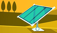 Solar Power Panels on a Field Presentation Template