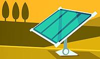 Solar Power Panels on a Field Presentation Template