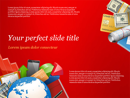 Global Business Concept Presentation Template, Master Slide