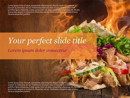 Kebab Sandwich Presentation Template, Master Slide