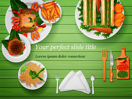 Snack Table Presentation Template, Master Slide