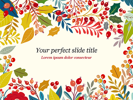 Autumn Bloom Presentation Template, Master Slide