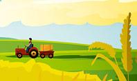 Idyllic Farm Landscape Presentation Template